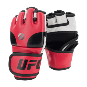 MMA Gloves Red S/M UFC Contender Open Palm MMA Training Gloves